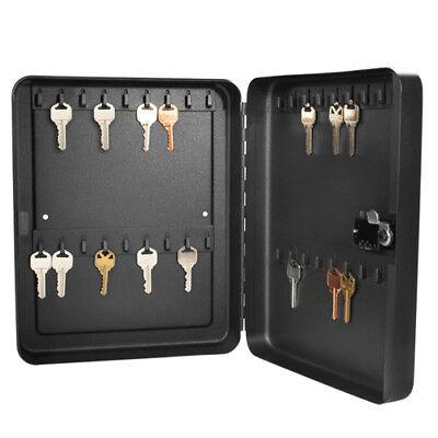 Barska 36 Key Hook Wall Mount Cabinet Safe W Combination Lock In Black Ax11820