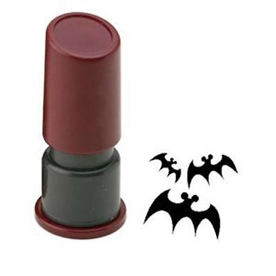 Halloween Pre Inked Rubber Stamp - Bats