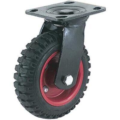 8 Swivel Caster Wheel Rough Knobby Surface For Outdoor All Terrain