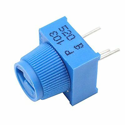Helloyee 10k Ohm Breadboard Trim Potentiometer With Knob For Arduino Pack Of