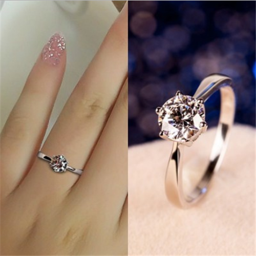 New Women rings stainless steel ring wedding rings engagement for Lady/'s Lianzhi
