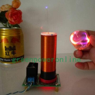 12V Mini Tesla Coil Wireless Transmission Portable Magic Teaching Toy JX02 CA
