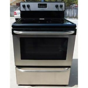 Frigidaire Glass Top Self Cleaning Stove Stainless Steel