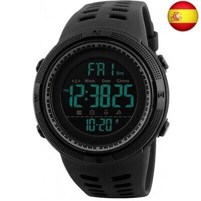 Reloj Digital, para Hombre, para Actividades al Aire Libre, Deportivo, (Negro)