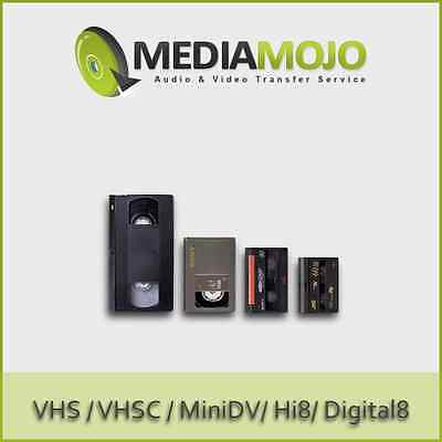 Transfer VHS Hi8 MiniDV VHSC & 8mm Video Tapes to DVD (Economical)