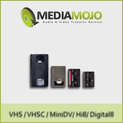 Transfer VHS Hi8 MiniDV VHSC & 8mm Video Tapes to DVD (Economical)