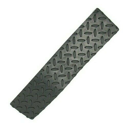 "Self Adhesive Rubber Safety Non Skid Tread for Steps  17"" x 4"" Peel and Stick."
