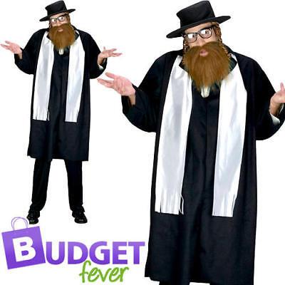 Rabbi Mens Fancy Dress Saint & Sinner Jewish Religious Adults Costume Outfit - Saint Sinner Kostüm