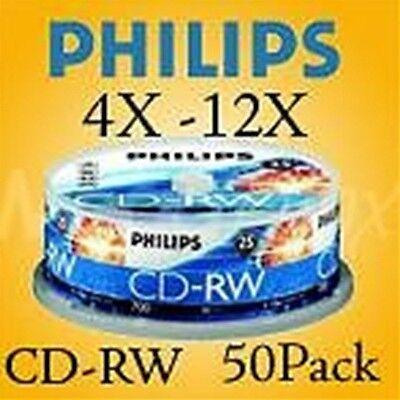 Philips 4X-12X CD-RW Re-write 50 Pack  $.57 per disc
