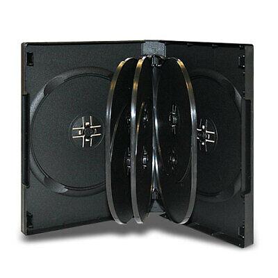 5 27mm Black 8 Disc DVD Storage Case Box with 3 Trays for CD DVD covid 19 (27mm 8 Disc Black Dvd coronavirus)