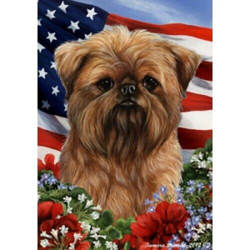 Patriotic (1) House Flag - Brussels Griffon 16128