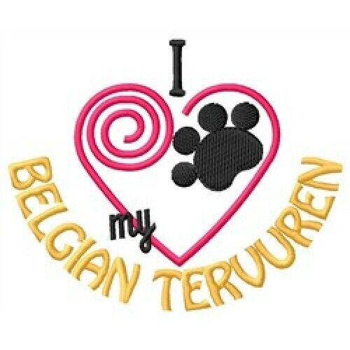 "I ""Heart"" My Belgian Tervuren Short-Sleeved T-Shirt 1288-2 Sizes S - XXL"