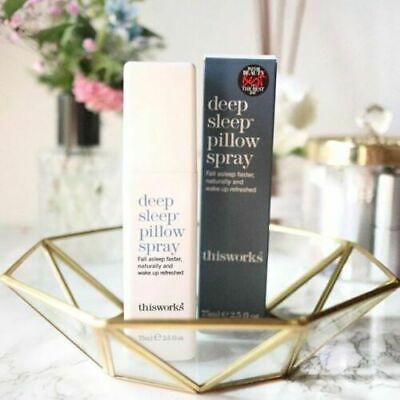 Thisworks Night Deep Sleep Pillow Spray 75ml Natural Help While Sleeping Fast