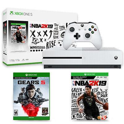 Xbox One S 1TB NBA 2K19 Bundle + Gears 5 Standard Edition
