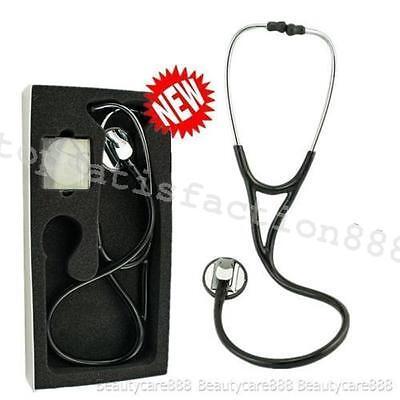 Pro-snake Professional Cardiology Stethoscope Black Super Home Ear Tips Health