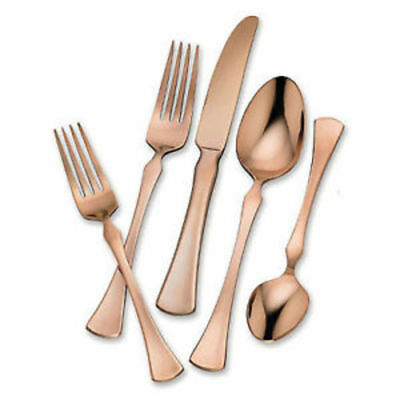 NEW Hampton Forge Stainless Steel Flatware Set - Refined Copper - 20Pcs