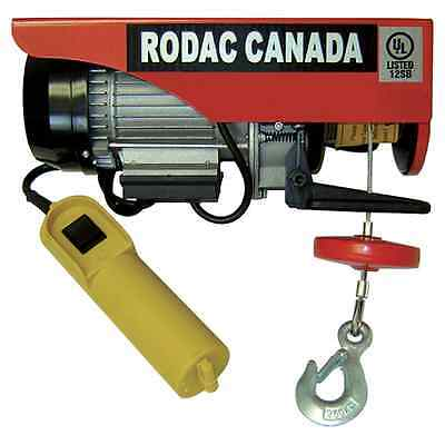 RODAC 1000/2000LB 110 VOLTS ELECTRIC WINCH HR1000