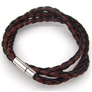 Magnetic Men Leather Bracelet