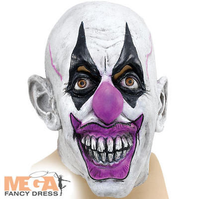 Scary Clown Mask Halloween Circus Joker Scary Fancy Dress Adults Mens Costume Ac - Scary Joker Costume