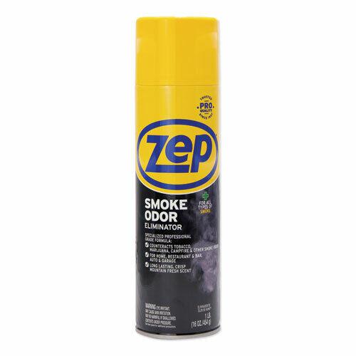 Zep Commercial Smoke Odor Eliminator, Fresh, 16 oz, 12/Carton (ZPEZUSOE16CT)