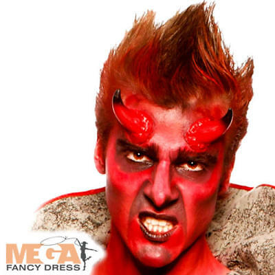 Red Make Up Palette Fancy Dress Halloween Devil Kids Adults Costume Face Paint