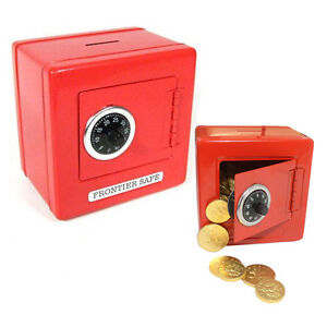 RED-Metal-Classic-Steel-Safe-Piggy-Bank-Toy-Money-Cash-Box-Coin-Bill-Slot-NEW
