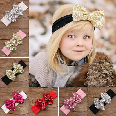 Sweet Cute Kids Girl Baby Toddler Bow Headband Hair Band Accessories Headwear ()