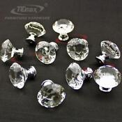 Antique Crystal Glass Door Knobs
