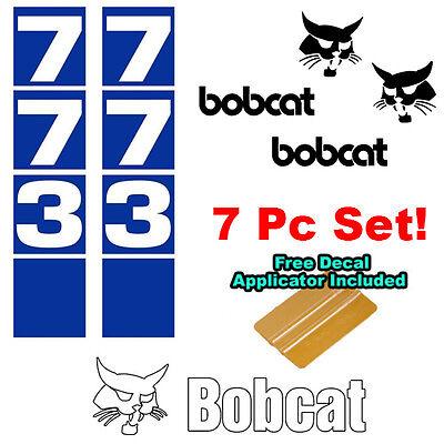 Bobcat 773 Skid Steer Set Vinyl Decal Sticker Bob Cat Made In Usa Free Tool