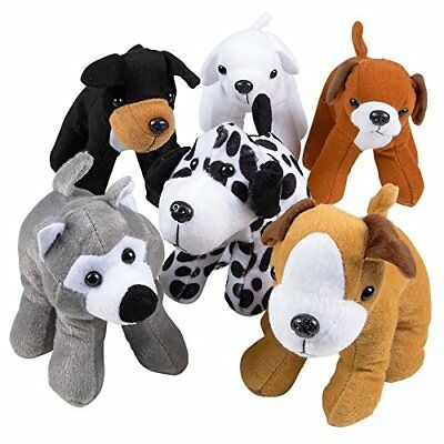Stuffed Animals Bulk  Pack of 12 Plush Puppy Dogs Assorted Party Favors - Bulk Stuffed Dogs