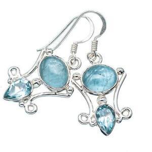 Natural Aquamarine Earrings