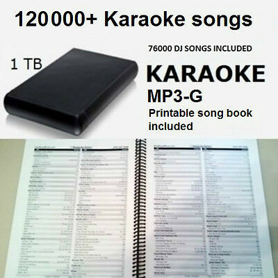 Karaoke USB 1TB Hard Drive 120000 All Styles Songs 76000 DJ MP3 English Spanish  for sale  Shipping to Canada