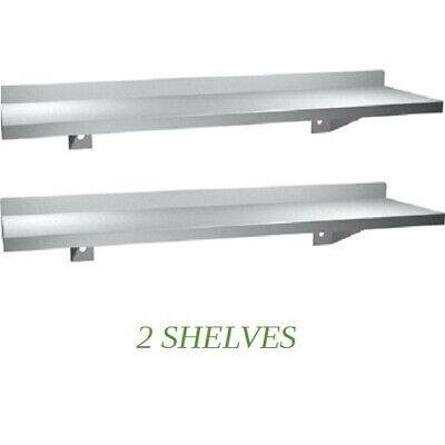 2 New Stainless Steel Wall Mounted Floating Shelf 5 X 36 L Kitchen Bathroom