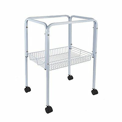 WHITE BIRD CAGE TROLLEY STAND FITS LIBERTA BIRD CAGES SIAM LOTUS PAGODA 9004