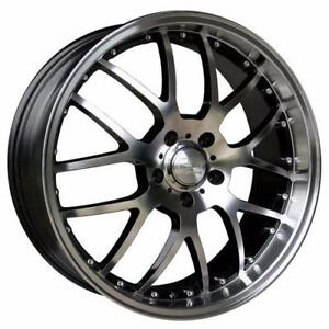 **PROMOTION** MAGS NEUFS 20'' 5 X 114.3 HD WHEELS MSR MACHINED FACE/GLOSS BLACK