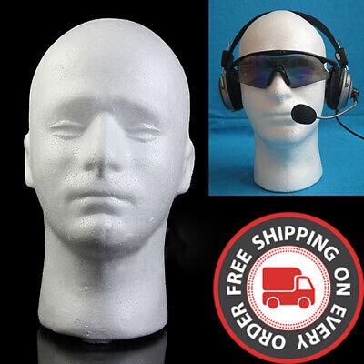 US Stock Male Mannequin Head Model for Showcase Display Glasses Hat Wig Scarves