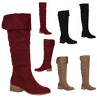 Fold-Over Knee-High Casual Boots for Women
