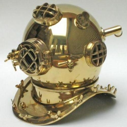 """Brass Mark V Dive Helmet, 17"""""""
