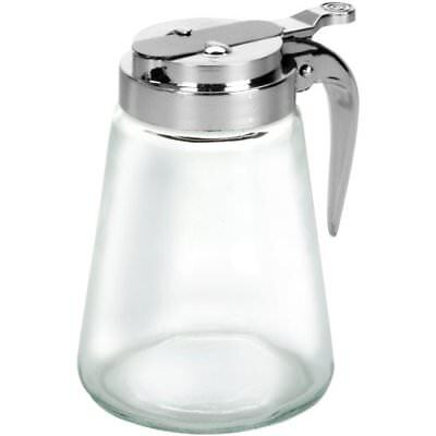 Anchor Hocking Glass Syrup / sugar Pitcher with Dispensing Lid