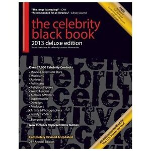 NEW The Celebrity Black Book 2013: 67,000+ Accurate Celebrity Addresses for Fans