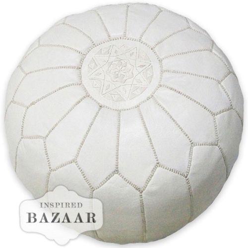 White Moroccan Pouf Ebay