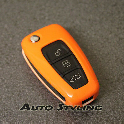Orange Key Cover Case for Ford Remote Protector Flip Fob Hull 2 3 Button 47go