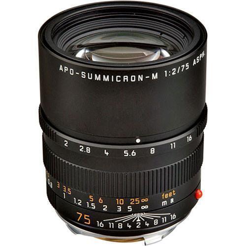 Leica Apo-Summicron-M Aspherical 75 mm F2.0 Aspherical APO MF Lens - 11637 New
