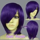 Cosplay Purple Short Wigs & Hairpieces