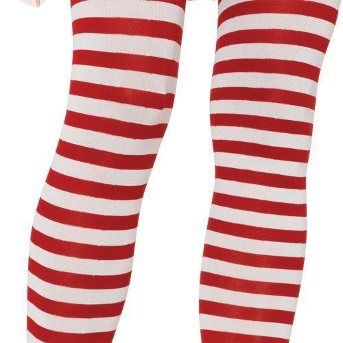 Bone! Red and white striped pantyhose