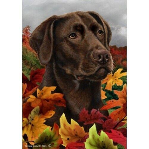 Fall Garden Flag - Chocolate Labrador Retriever 130281
