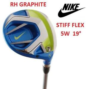 USED NIKE VAPOR FLY 5 WOOD RH 19° 249365823 RIGHT HANDED GRAPHITE STIFF FLEX GOLF CLUB