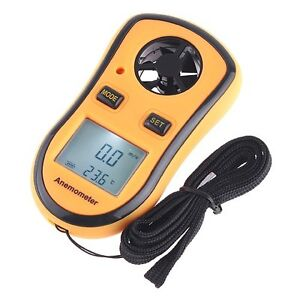 Digital Pocket Anemometer Wind Speed Meter Temperature Gauge LCD Thermometer US