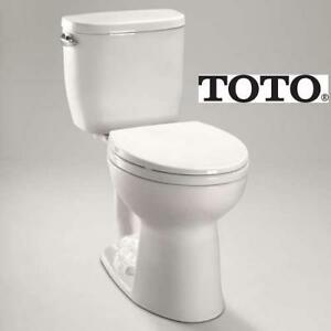 NEW TOTO ENTRADA PIECE TOILET cst243ef#01 231355321 1.28GPF ROUND BOWL COTTON WHITE