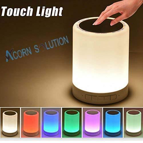 LED Bluetooth Speaker Music Smart Touch & Night Light Desk Lamp USB Rechargeable